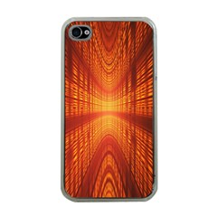 Abstract Wallpaper With Glowing Light Apple Iphone 4 Case (clear)