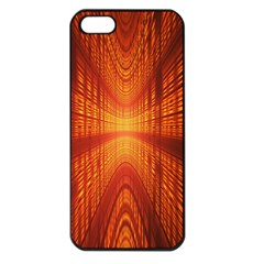 Abstract Wallpaper With Glowing Light Apple Iphone 5 Seamless Case (black)