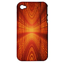 Abstract Wallpaper With Glowing Light Apple Iphone 4/4s Hardshell Case (pc+silicone)