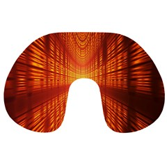 Abstract Wallpaper With Glowing Light Travel Neck Pillows