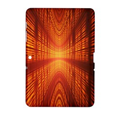 Abstract Wallpaper With Glowing Light Samsung Galaxy Tab 2 (10 1 ) P5100 Hardshell Case