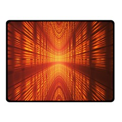 Abstract Wallpaper With Glowing Light Double Sided Fleece Blanket (small)