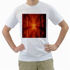 Abstract Wallpaper With Glowing Light Men s T-Shirt (White)