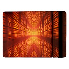 Abstract Wallpaper With Glowing Light Samsung Galaxy Tab Pro 12 2  Flip Case