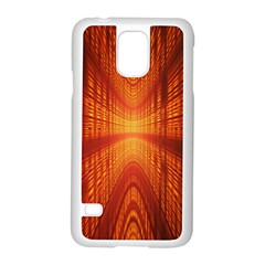 Abstract Wallpaper With Glowing Light Samsung Galaxy S5 Case (White)