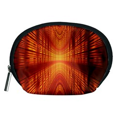 Abstract Wallpaper With Glowing Light Accessory Pouches (Medium)