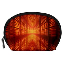Abstract Wallpaper With Glowing Light Accessory Pouches (Large)