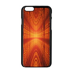 Abstract Wallpaper With Glowing Light Apple Iphone 6/6s Black Enamel Case