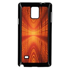 Abstract Wallpaper With Glowing Light Samsung Galaxy Note 4 Case (black)