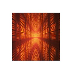 Abstract Wallpaper With Glowing Light Satin Bandana Scarf