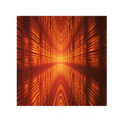 Abstract Wallpaper With Glowing Light Small Satin Scarf (Square)