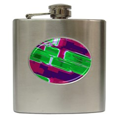 Background Wallpaper Texture Hip Flask (6 Oz)