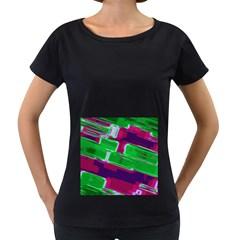 Background Wallpaper Texture Women s Loose-Fit T-Shirt (Black)