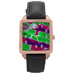 Background Wallpaper Texture Rose Gold Leather Watch