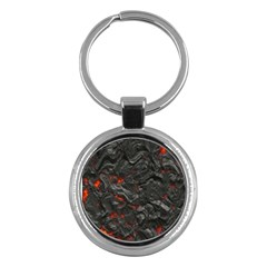 Volcanic Lava Background Effect Key Chains (Round)
