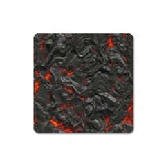 Volcanic Lava Background Effect Square Magnet