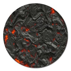 Volcanic Lava Background Effect Magnet 5  (Round)