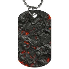 Volcanic Lava Background Effect Dog Tag (One Side)