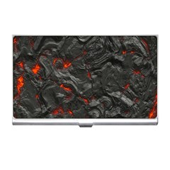 Volcanic Lava Background Effect Business Card Holders