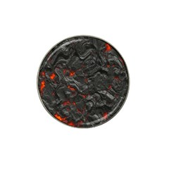Volcanic Lava Background Effect Hat Clip Ball Marker