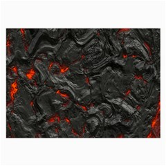 Volcanic Lava Background Effect Large Glasses Cloth