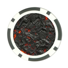 Volcanic Lava Background Effect Poker Chip Card Guard