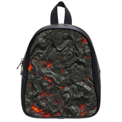 Volcanic Lava Background Effect School Bags (Small)