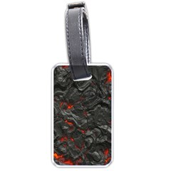 Volcanic Lava Background Effect Luggage Tags (one Side)