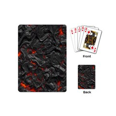Volcanic Lava Background Effect Playing Cards (mini)