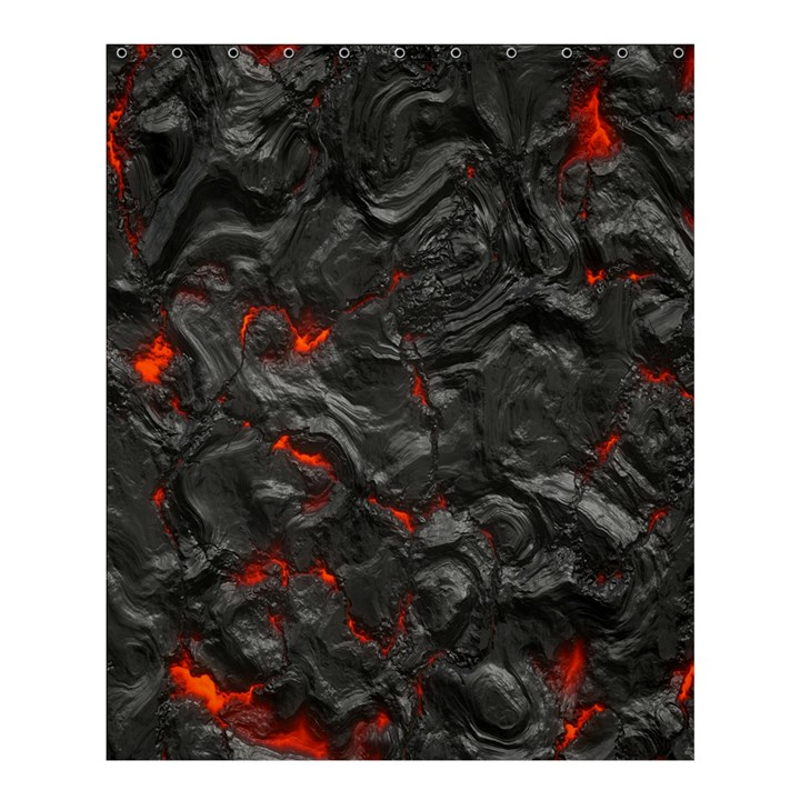 Volcanic Lava Background Effect Shower Curtain 60  x 72  (Medium)