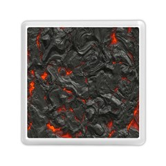 Volcanic Lava Background Effect Memory Card Reader (square)