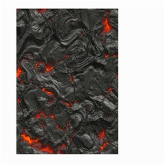 Volcanic Lava Background Effect Large Garden Flag (Two Sides)