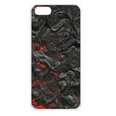 Volcanic Lava Background Effect Apple Iphone 5 Seamless Case (white)