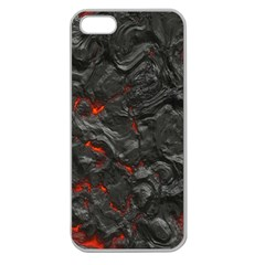 Volcanic Lava Background Effect Apple Seamless iPhone 5 Case (Clear)