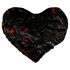 Volcanic Lava Background Effect Large 19  Premium Flano Heart Shape Cushions