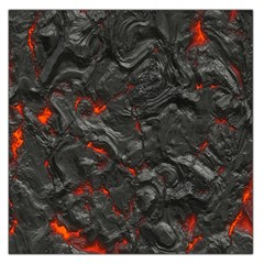 Volcanic Lava Background Effect Large Satin Scarf (Square)