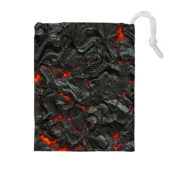 Volcanic Lava Background Effect Drawstring Pouches (extra Large)