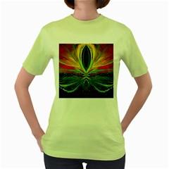 Future Abstract Desktop Wallpaper Women s Green T Shirt