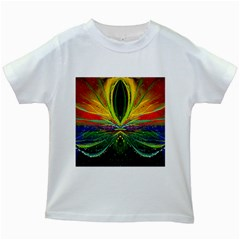 Future Abstract Desktop Wallpaper Kids White T-Shirts