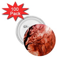 Fire In The Forest Artistic Reproduction Of A Forest Photo 1 75  Buttons (100 Pack)