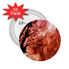 Fire In The Forest Artistic Reproduction Of A Forest Photo 2.25  Buttons (10 pack)