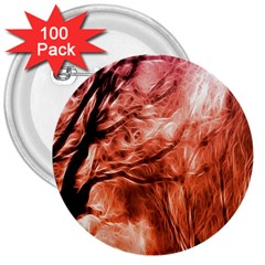 Fire In The Forest Artistic Reproduction Of A Forest Photo 3  Buttons (100 pack)