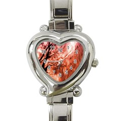 Fire In The Forest Artistic Reproduction Of A Forest Photo Heart Italian Charm Watch