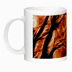 Fire In The Forest Artistic Reproduction Of A Forest Photo Night Luminous Mugs