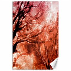 Fire In The Forest Artistic Reproduction Of A Forest Photo Canvas 24  X 36