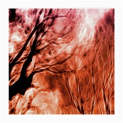 Fire In The Forest Artistic Reproduction Of A Forest Photo Medium Glasses Cloth (2 Side)