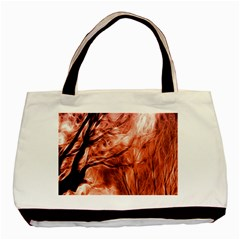 Fire In The Forest Artistic Reproduction Of A Forest Photo Basic Tote Bag (two Sides)
