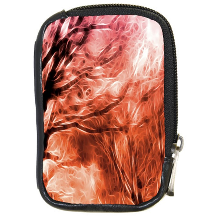 Fire In The Forest Artistic Reproduction Of A Forest Photo Compact Camera Cases