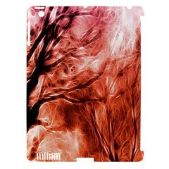 Fire In The Forest Artistic Reproduction Of A Forest Photo Apple iPad 3/4 Hardshell Case (Compatible with Smart Cover)