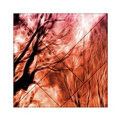 Fire In The Forest Artistic Reproduction Of A Forest Photo Acrylic Tangram Puzzle (6  x 6 )